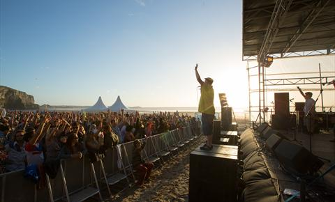 Electric Beach Festival on Newquay's Fistral Beach 2015